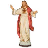 """Blessing Jesus Sacred Heart 48""""H - Fiberglass"""