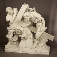 "Station 3 - Jesus Falls the 1st Time (48""H - Fiberglass)"
