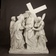 "Station 4 - Jesus Meets His Mother (48""H - Fiberglass)"