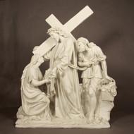 "Station 6 - Jesus Meets Veronica (57""H - Fiberglass)"