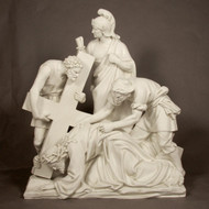 "Station 7 - Jesus Falls the 2nd Time (54""H - Fiberglass)"