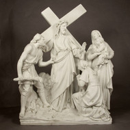 "Station 8 - Jesus Speaks to the Woman (58""H - Fiberglass)"