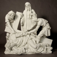 "Station 9 - Jesus Falls the 3rd Time (56""H - Fiberglass)"