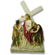 """Station 2 - Jesus is Given the Cross (20""""H - Fiberglass)"""