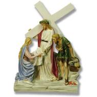 "Station 6 - Jesus Meets Veronica (24""H - Fiberglass)"