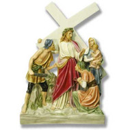 "Station 8 - Jesus Meets Women/Jerusalem (26""H - Fiberglass)"