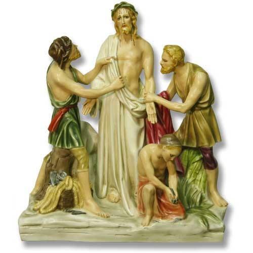 "Station 10 - Jesus is Stripped (28""H - Fiberglass)"