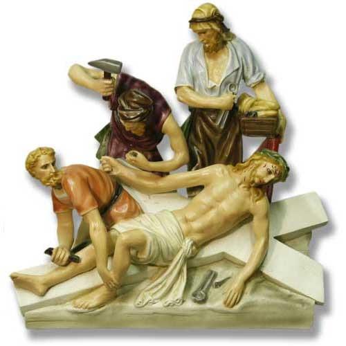 "Station 11 - Jesus is Nailed to Cross (29""H - Fiberglass)"