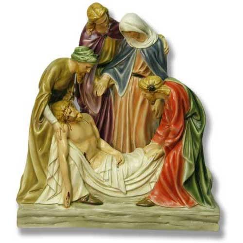 "Station 14 - Jesus is Buried (22""H - Fiberglass)"