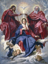 Coronation of the Virgin by Diego Rodríguez de Silva y Velázquez