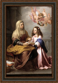 Saint Anne and the Virgin by Bartolomeo Esteban Murillo