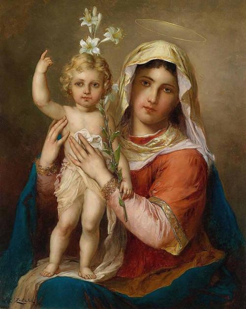 Madonna and Child by Hans Zatzka