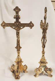 Double-Sided Standing Crucifix