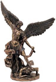 St. Michael Statue (bronze, color, pewter, white)