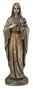 Immaculate Heart of Mary Statue (bronze or color)