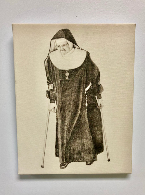 Mother Angelica With Crutches Canvas Print