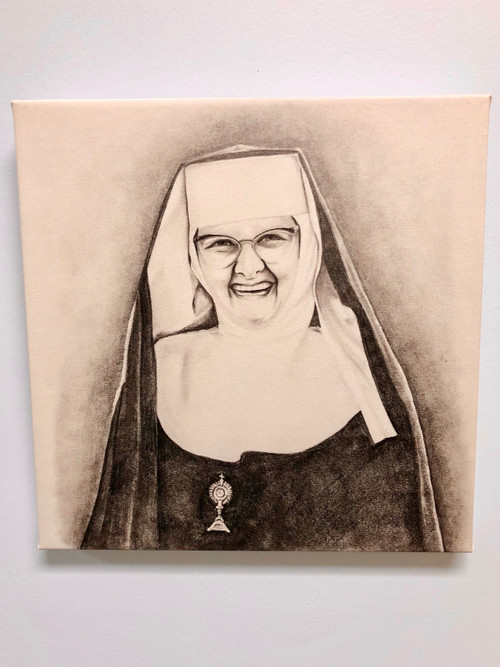Mother Angelica Smiling Canvas Print