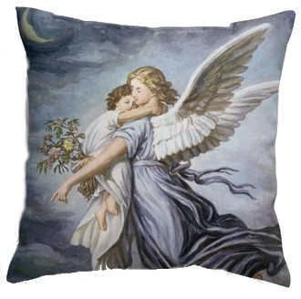 Angel & Child Double-sided Pillow