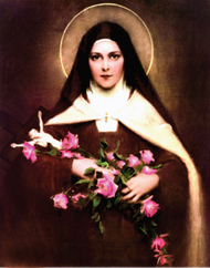 St. Therese Stretched Canvas Print