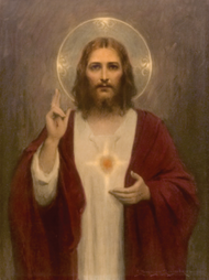 Sacred Heart of Jesus Stretched Canvas Print