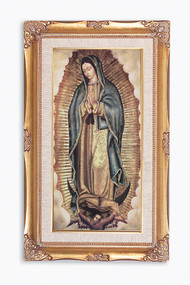 OUR LADY OF GUADALUPE PRINT IN HIGH QUALITY GOLD LEAF FRAME