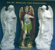 ST. MICHAEL OUTDOOR STATUE 24""