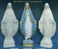 OUR LADY OF GRACE OUTDOOR STATUE 24""