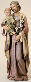 St. Joseph With Baby Jesus Figure