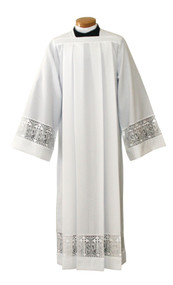 Silky Smooth Poplin Alb with Latin Cross