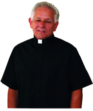 Black Clergy Tab Collar Shirt