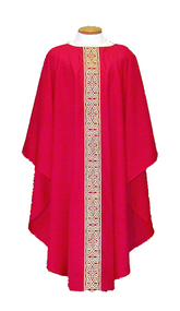 Metallic Gold Brocade Chasuble & Dalmatic 955