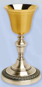 Gold Plated & Oxidized Silver Chalice K924