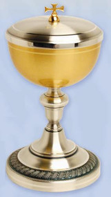 Gold Plated & Oxidized Silver Ciborium K925