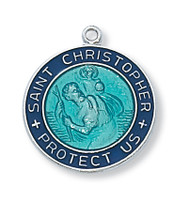 BLUE ST. CHRISTOPHER MEDAL L2014