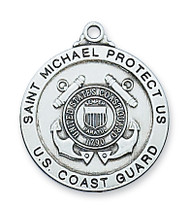 ST. MICHAEL COAST GUARD MEDAL L650CG