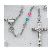 ROSARY MULTI-COLOR CRYSTAL STERLING SILVER CHALICE