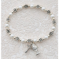 White Pearl Stretch Bracelet 273