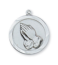 PRAYING HANDS MEDAL L373