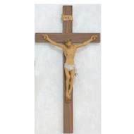"24"" WALNUT ITALIAN CRUCIFIX 79-00824--FREE SHIPPING!"