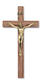 "10"" WALNUT CARVED CRUCIFIX 80-38"