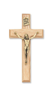 "8"" BEVELED OAK CRUCIFIX 79-74"