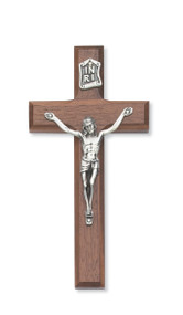 "6"" BEVELED WALNUT CRUCIFIX 79-69"