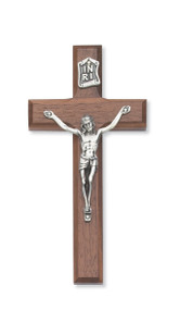 8* BEVELED WALNUT CRUCIFIX 79-70