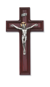 "10"" CHERRY STAINED CRUCIFIX 80-36"