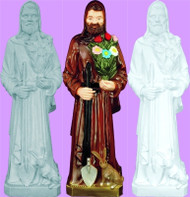 """ST. FIACRE OUTDOOR STATUE 24"""""""