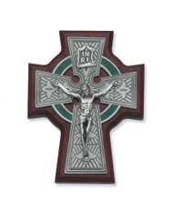 "5 1/2"" CHERRY STAINED CELTIC CRUCIFIX 80-124"