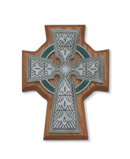 "5 1/2"" WALNUT STAINED CELTIC CRUCIFIX 80-123"