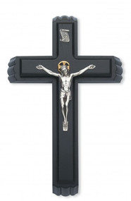 "SICK CALL SET - 11"" BLACK WOOD CRUCIFIX 80-128"