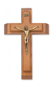 "SICK CALL SET - 12"" WALNUT STAINED CRUCIFIX 79-42495"