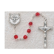 RED HOLY SPIRIT ROSARY R262SF